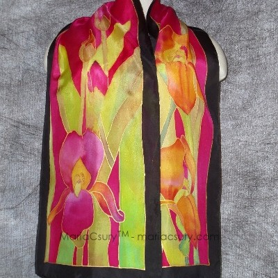 Iris_painted_silk_scarf