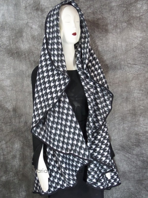 Handmade Fleece checked cape