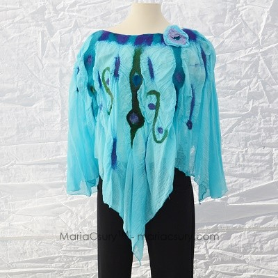 turquois_felted_cotton_poncho
