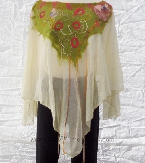 yellow_green_felted_poncho