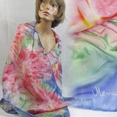 pink_blue_flowers_hand_dyed_silk_woman_scarf