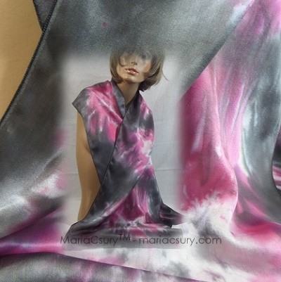pink_black_flowers_hand_dyed_silk_woman_scarf