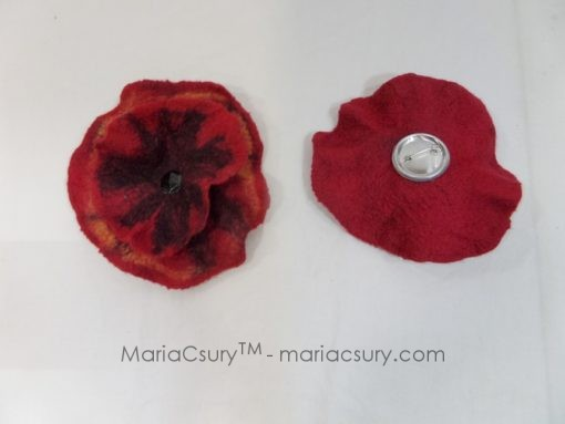 wet_felted_red_poppy_brooch
