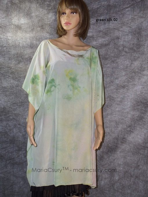 hand_dyed_green_silk_poncho
