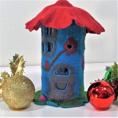 mushroom_fairy_house_felt_blue_fairy_light_Christmas_gift
