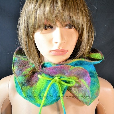 turquoise_felted_neck_warmer_scarf