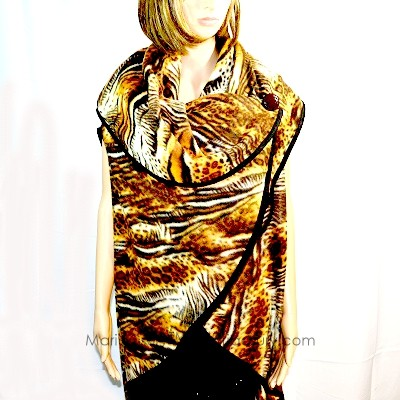 handmade_fleece_zebra_brown_cape