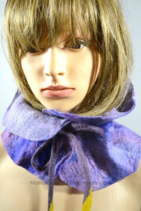 lavender_felted_scarf_neck_warmer_gift_for_her
