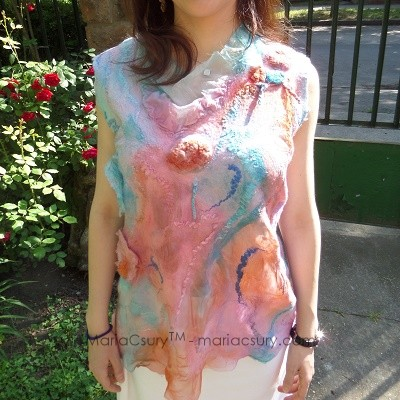 Felted_pink_turquoise_sleeveless_top_shabby_chic_style